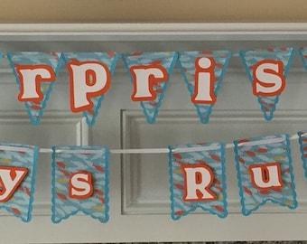 Surpise baby shower banner