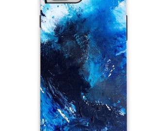 Shades of blue phone case