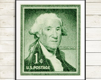 George Washington posters, Washington prints, George Washington portraits, US postage stamps, history classroom decor, history teacher gifts