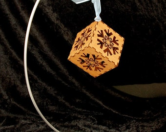 Laser Cut Snowflake Hanging Ornament - Ready to Ship!