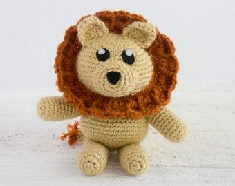 Lion Stuffed Animal - Choose Your Colors - Crochet Lion