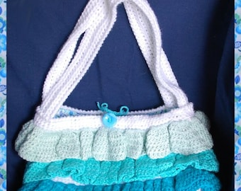Crochet Ruffled and Lined Tote