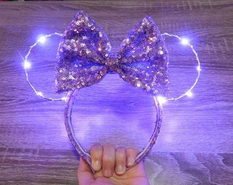 Purple Light Up Ears!