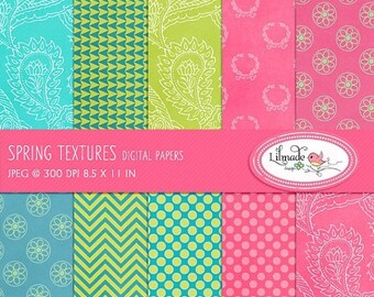 50%OFF Digital paper, textured digital paper, digital scrabook paper, bright color digital paper, spring digital paper, P115