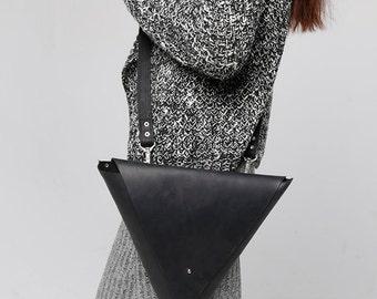 Triangle handbag exclusive clutch original bag modern bag stylish bag black bag woman handbag shoulder bag delta bag trendy bag fashion bag
