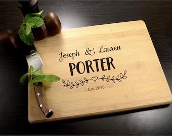Personalized Cutting Board - Anniversary Gift - Engraved Wooden Cutting Board - Custom Wood Cutting Board - Wedding Gift - Housewarming Gift