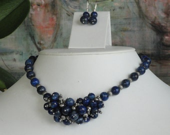 Lapis beaded necklace  -  107