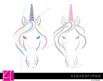 Unicorn head svg Unicorn horn svg Unicorn svg Unicorn birthday