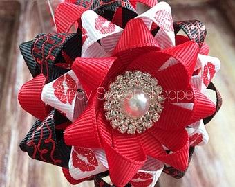Kiss Kiss Woven headband with Gift Bow