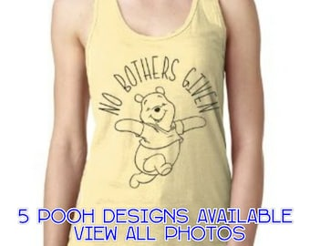 Winnie The Pooh Tank. Winnie The Pooh Shirt. Disney Tank. Disney Shirt. Disney. Tank Top. Winnie The Pooh. No Bothers Given. Women's Tank