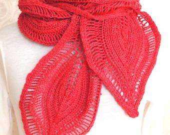 Hand Knitting Pattern - Petal Scarf