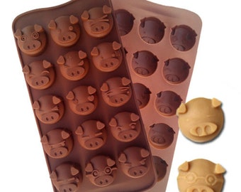 Pig Piggy Silicone Soap, Ice Cube, Chocolate or Candy Mold Baking Supplies