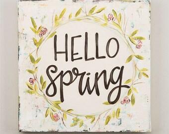 Hello Spring Canvas