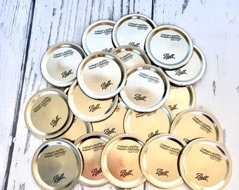 "Regular Mouth Mason Jar Lids, Regular Mouth Canning Lids, Brand New Canning Lids for Mason Jar Canning or Crafts, 2.5"" Canning Lids"