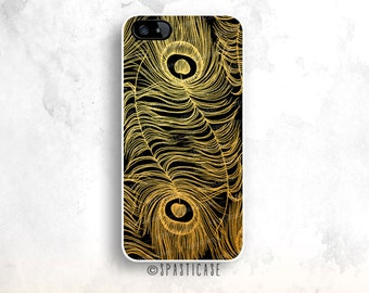 Gold iPhone 6 Case, Feather iPhone 5S Case, iPhone 5 Case, iPhone 6 Case Peacock, iPhone 6 Plus Case, Gold iPhone 6S Case, iPhone 5C