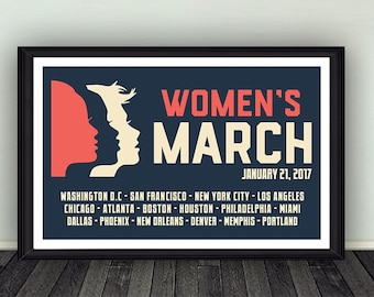 11x17 Women's March on Washington Anti-Trump Poster