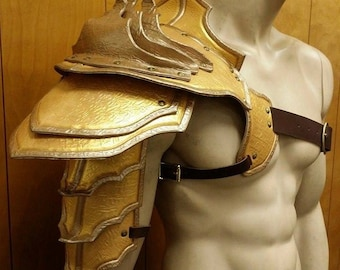 Leather Armor Barbarian Shoulder