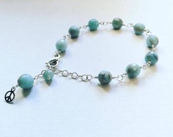 Chinese blue Opal bracelet