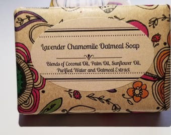 Mother's Day Gift - Lavender Chamomile Oatmeal Soap