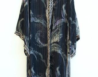 vintage oriental arabic mystic caftan dress transparent tribal gypsy goddess priestess