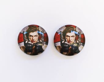 The 'Resident Evil' Glass Earring Studs