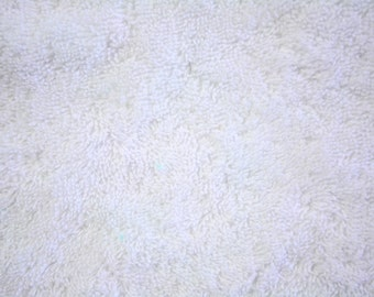 "White Terry Cloth Fabric 19 oz 56""/58"" wide 15 Yards Wholesale"
