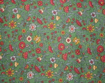 Red and Green Floral Fabrics from Marcus Brothers