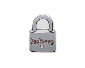 Feelings Padlock Enamel Pin