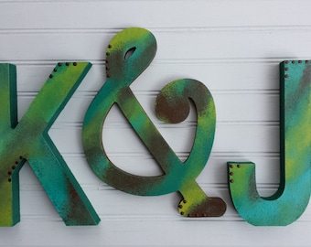 Boy Name Letters - Kids Wall Art - Girl Name Letters - Kids Room Decor - Nursery Letters