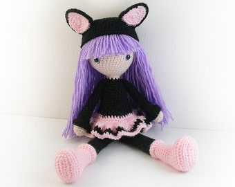 Amigurumi Cat Doll : Pattern : doll crochet pattern amigurumi doll pattern