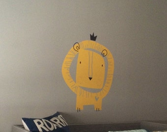 Baby Zoo Lion King Wall Decal by LittleLion Studio - Baby Lion Wall Decal