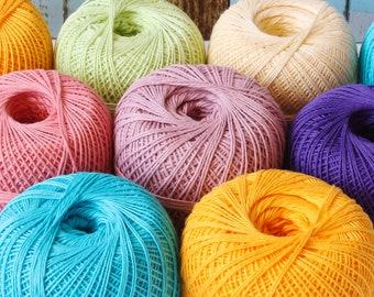Mercerized cotton yarn, soft, knitting, summer, lace, crochet yarn, natural yarn, crochet thread