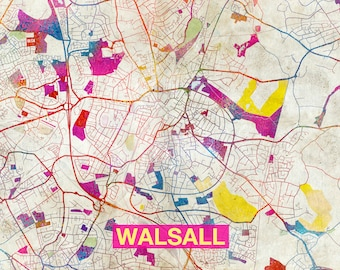 Walsall map Etsy