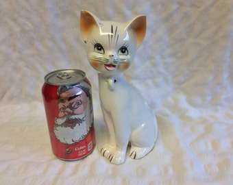Vintage Art Pottery Cat with ring hole on neck to attach Kittens (not included) with One Chip to one Ear (see Photos) Unmarked
