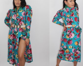 Vintage 1960s KENZO floral print wrap  dress size 38  S