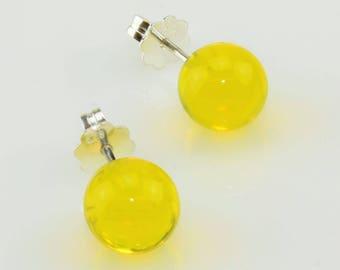 Earrings lemon (transparent)