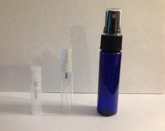 Spray perfume oil