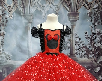 Sparkly Minnie mouse style tutu dress
