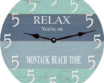 Pelican Beach Clock Beach Themed Wall Clock