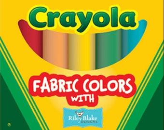 Crayola Solids Fat Quarter Box   Riley Blake Designs   10 Confetti Solid Fat Quarters    Fat Quarter Bundle   Quilt Fabric   Fabric Bundle