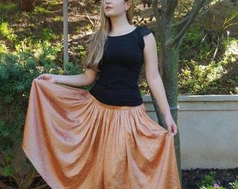 Vintage Copper Metallic Skirt