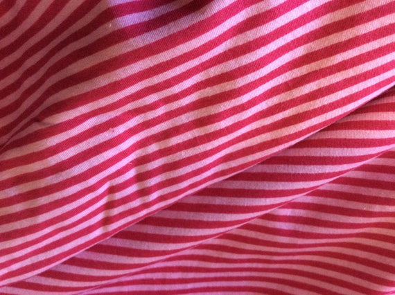 Pink striped cotton jersey