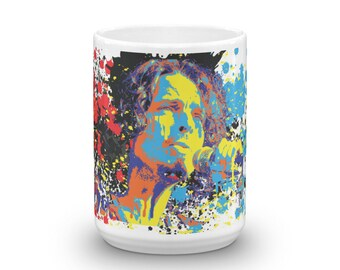 Chris Cornell of Soundgarden Audioslave Temple of the Dog Pop Art Coffee Mug