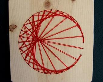 Modern String Art Wooden Tablet