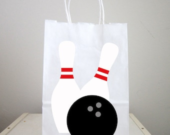 Bowling Goody Bags, Bowling Favor Bags, Bowling Gift Bags, Bowling Party Bags (22617945P)