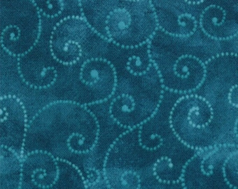 Teal Marble Swirl from Moda
