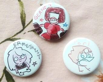 Crystal Derps Steven Universe Pins