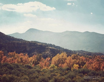 Arizona Autumn - Western decor, landscape photograph, Southwest photography, mountain art, nature photo, fall