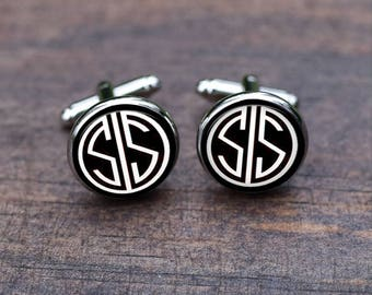 Monogrammed Cufflinks, monogrammed cufflinks first or last name, Custom personalized initial letter, Wedding Accessories, groom Groomsman