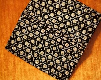 Vintage gold and silver thread velvet clutch